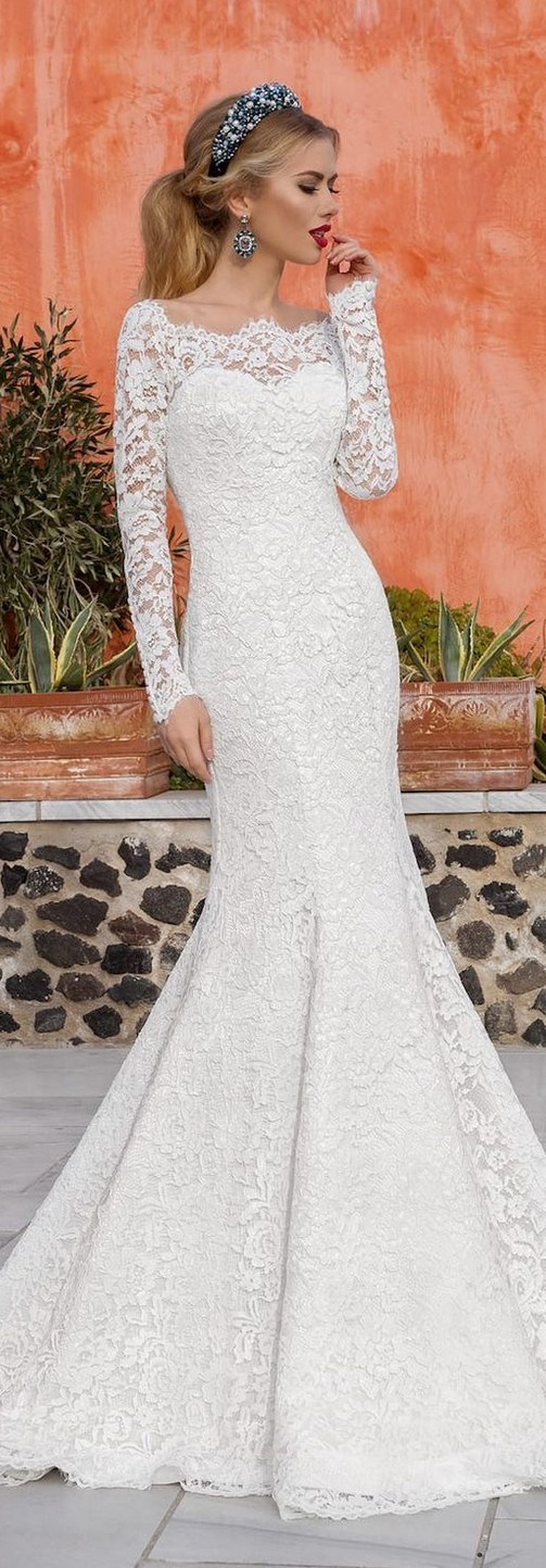 55 most loved long sleeve wedding dresses for Adding sleeves to a wedding dress
