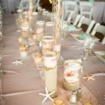 beach theme wedding reception