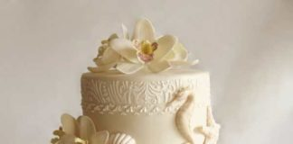 beach themed wedding cakes designs