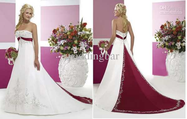 burgundy and white wedding dress - Wedding Decor Ideas
