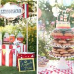 carnival themed wedding reception