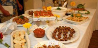 casual wedding reception food