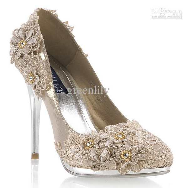 champagne colored wedding shoes wedding decor ideas