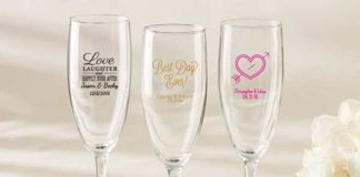 champagne glass wedding favors
