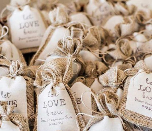 coffee wedding favor
