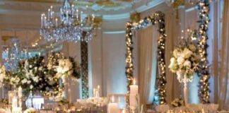 decorating for wedding reception