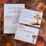 fall wedding invitations cheap