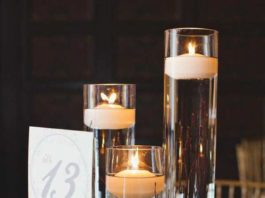 floating candles wedding centerpieces ideas