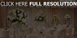 flower arrangements for wedding reception tables