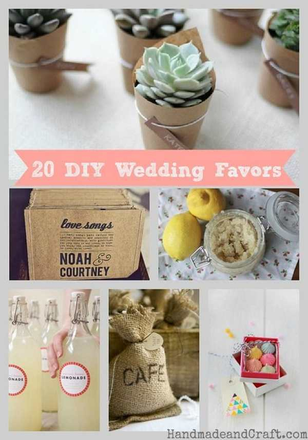 make your own wedding favor ideas - Wedding Decor Ideas