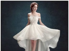 off white short wedding dresses