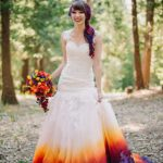 ombre wedding dress