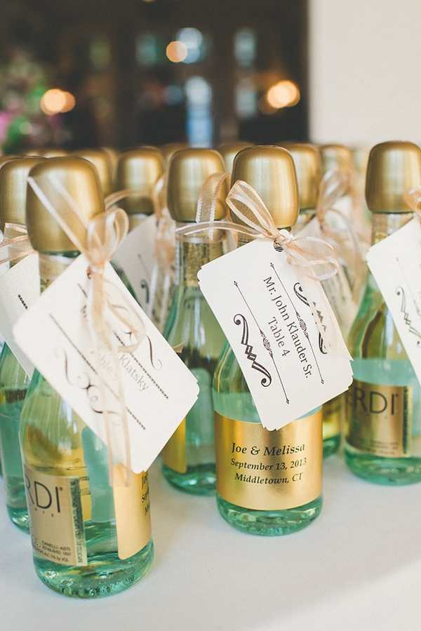 Personalized Mini Champagne Bottles Wedding Favors