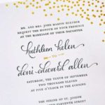 proper wedding invitation