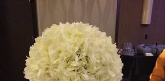 silk flower centerpieces for wedding reception