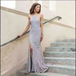 silver dress for wedding guest