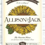 sunflower seed packets wedding favors