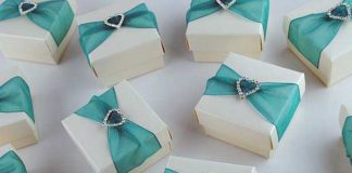 teal wedding favors