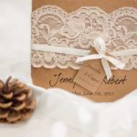 vintage lace wedding invitations