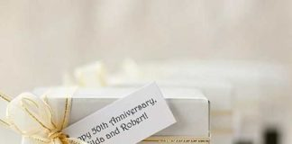 wedding anniversary favors