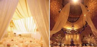 wedding decor draping ideas
