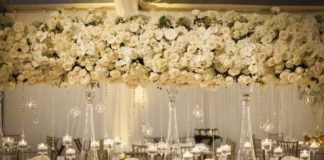 wedding reception flower arrangements