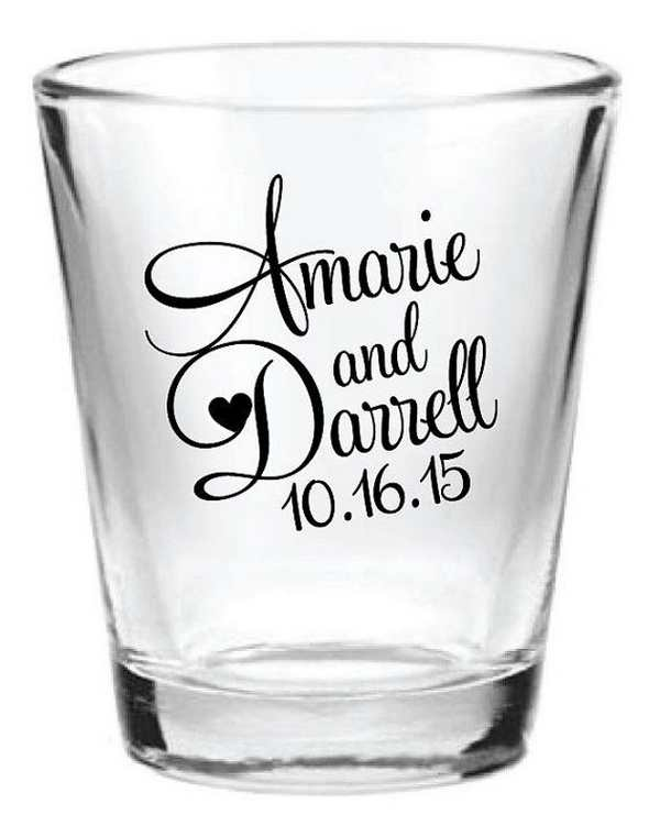 wedding shot glasses favors wedding decor ideas