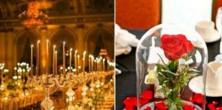 beauty and the beast wedding theme ideas