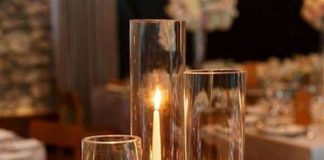 candle centerpieces for wedding reception tables