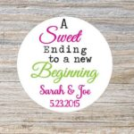 personalized wedding favor stickers