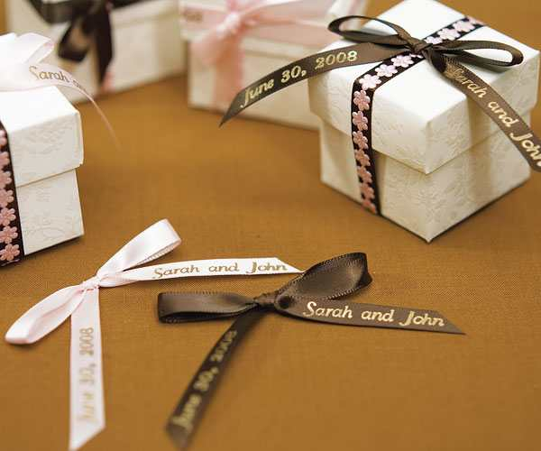 Personalized Wedding Ribbon For Favors
